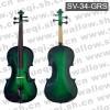斯坦霍夫牌小提琴-3/4云杉木面板乌木配件手工绿色斯坦霍夫小提琴