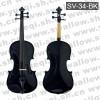 斯坦霍夫牌小提琴-3/4云杉木面板乌木配件手工黑色斯坦霍夫小提琴