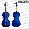 斯坦霍夫牌3/4云杉木面板乌木配件蓝色小提琴