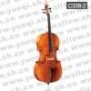 红棉C338型 云杉木面板虎纹枣木配件乌木指板1/2中高级大提琴