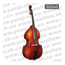 红燕牌5203-B型4/4乌木配件带花实木亚光高级低音提琴