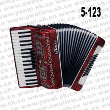 百乐牌手风琴-5-123百乐手风琴-34键5/0变音60贝司百乐手风琴